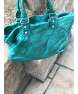 Womens Liebeskind Berlin Green Leather Aqua Tote Hand Bag Authentic Shou... - $99.00