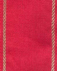 "Primary image for 27ct Sara Red/Gold banding 1.9""w x 18"" (1/2yd) 100% linen Mill Hill"