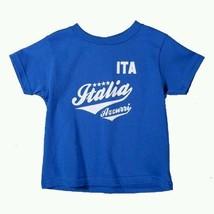 New Italy Italia Azzurri Banner Toddler Size 2T T-shirt Soccer Calcio Tee - $14.84