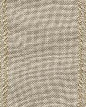 "27ct Bethany Natural/Gold banding 2.7""w x 36"" (1yd) 100% linen Mill Hill - $10.80"