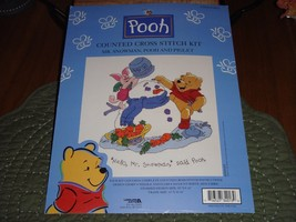 Leisure Arts Mr. Snowman Pooh And Piglet Cross Stitch Kit - $15.99