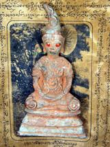 So Rare! Big Ancient Phra Ngang-Tadang Bucha Khmer 2-300 yr Thai Buddha Amulets - $69.99