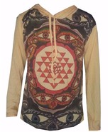 Men Yoga Hoodie Om Hindu Ganesh Buddha India short sleeve WEED M HIPPIE ... - $22.76