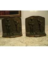 Rare Vintage 1920s Authentic BRONZMET Cast Iron Angelus Farmers Praying ... - $131.42