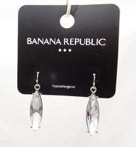 Stylish New Clear Rhinestone Drop Earrings by Banana Republic NWT #BRE28 - $124,86 MXN