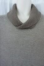 Tasso Elba Sweater Mens Sz L Walnut Heather Brown Luxury Silk Blend Henl... - ₨4,310.25 INR