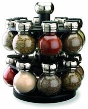 Olde Thompson 16 Jar Labeled Revolving Rotating Steinless Steel Orbit Sp... - $132.43