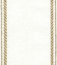"27ct Bethany Antique White/Gold banding 2.7""w x 18"" (1/2yd) 100% linen Mill Hill - $5.40"