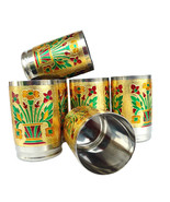 Stainless Steel Meena Hand Work Set of 6 Drink ware Glass Diwali Gift It... - $54.99