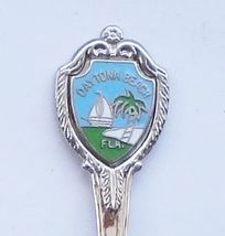 Collector Souvenir Spoon USA Florida Daytona Beach Sail Boat Palm Tree - $2.99