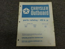 1966 Chrysler Outboard 45 HP 45HP Parts Catalog Manual Book OEM - $24.74