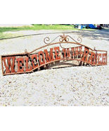 Metal Welcome to the RANCH Sign Wall Entry Gate 44 3/4 inch - $124.98