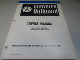 1981 Chrysler Outboard Service Manual 100 115 140 HP Factory OEM Book OB 3439 - $25.69