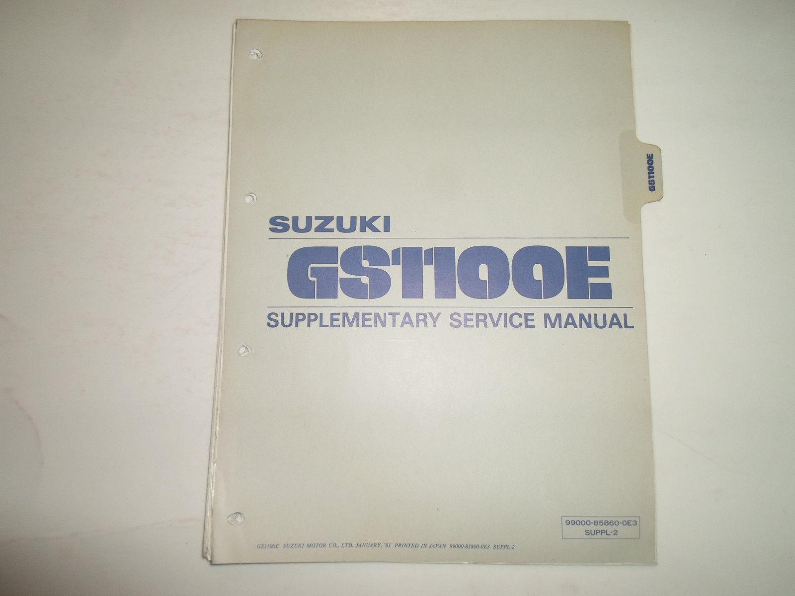 1981 Suzuki Gs1100 E Supplementary Service and 50 similar items
