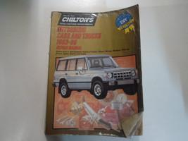 1983 1989 Chiltons Mitsubishi Cars & Trucks Repair Manual Water Damaged Factory - $11.13