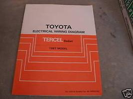 1987 Toyota Tercel Sedan Electrical Wiring Diagram Troubleshooting Manual EWD - $7.70