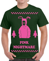 371 Pink Nightmare mens T-shirt christmas funny story movie 80s holiday pop new - $15.00+