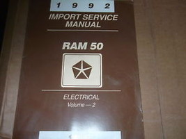 1992 Dodge Ram 50 Truck Ram50 Electrical Service Shop Repair Manual - $6.34