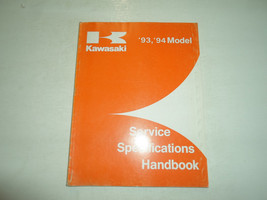 1993 1994 Kawasaki Service Specifications Handbook Manual FACTORY OEM BOOK 93 94 - $10.29