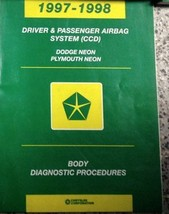 1997 1998 Dodge Plymouth Neon Body Diagnostic Procedures Manual Book Factory Oem - $7.04