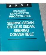 2001 CHRYSLER SEBRING & STRATUS CHASSIS Diagnostic Procedures Service Ma... - $11.78