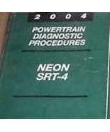 2004 DODGE CHRYSLER NEON Powertrain Diagnostic Procedures Service Shop M... - $20.78