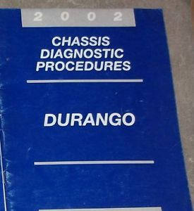 2002 DODGE DURANGO CHASSIS DIAGNOSTICS PROCEDURES Service Shop Repair Manual image 1
