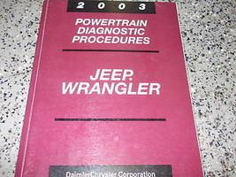 2003 Jeep Wrangler Powertrain Diagnostic Service Manual - $14.80
