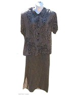 Leopard White Stag 2 Pc Short Sleeve Maxi Dress - $24.50
