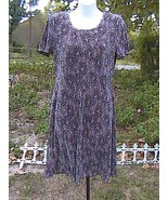 DRESS BARN Printed Short Sleeve Dress - $15.00