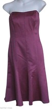 David's Bridal Fuschia Strapless Dress - $50.00