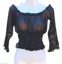 Black Ruffles Top - $15.00