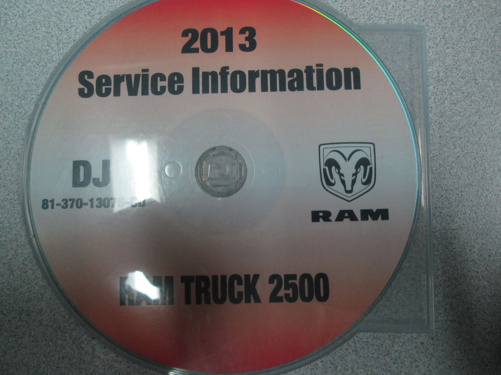 2013 DODGE RAM TRUCK 2500 Service Shop Repair Manual CD DVD BRAND NEW FACTORY