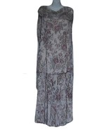 Marie St. Claire Floral  Beaded Sash Dress - $210.00