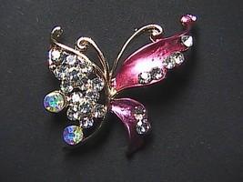 Fashion Clear Rhinestone Butterfly Brooch - $15.00