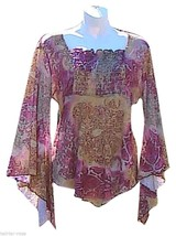 Dynamite Printed Asymmetrical Top - $15.00