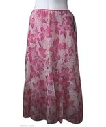 W Wrapper  Pink Floral Skirt - $22.00