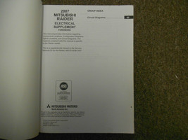 2007 MITSUBISHI Raider Electrical Supplement Service Repair Shop Manual WORN 07 image 2