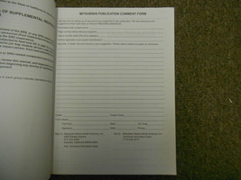 2007 MITSUBISHI Raider Electrical Supplement Service Repair Shop Manual WORN 07 image 4