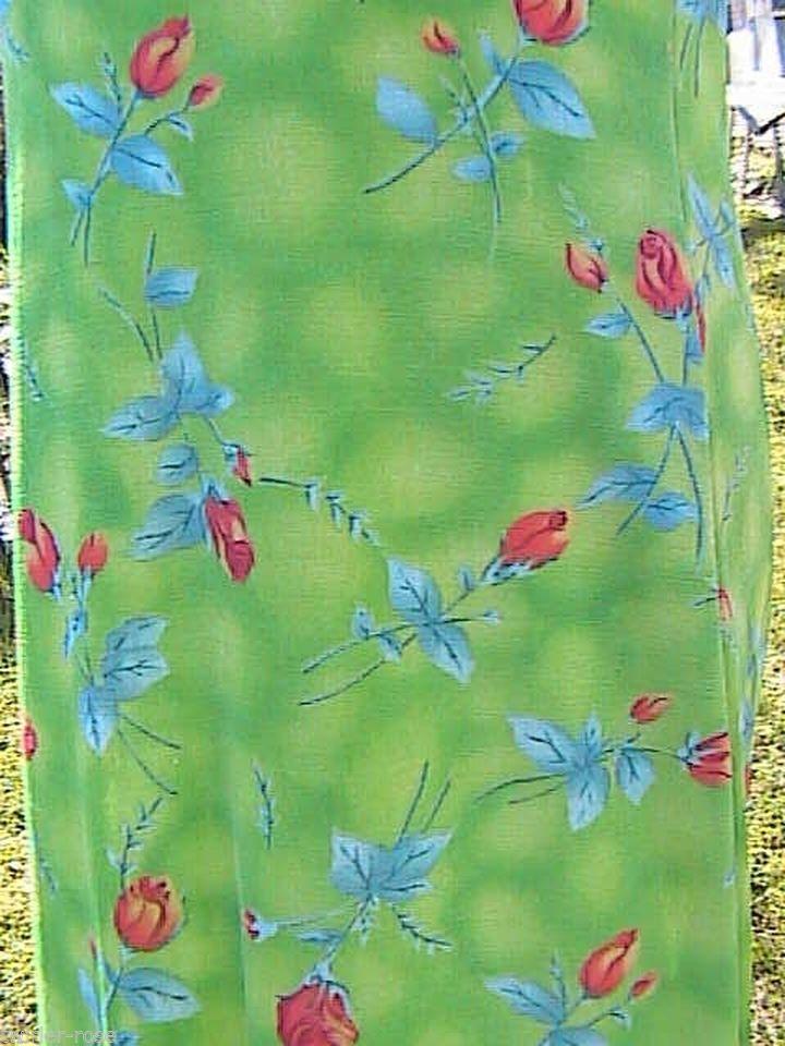 Green Floral Floral Maxi Dress