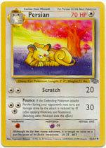 Persian 42/64 Uncommon Jungle Unlimited Pokemon Card