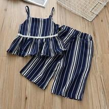 Conjuntos de bebé conjuntos de verano para niñas rayas estampado sin mangas - $10.68+