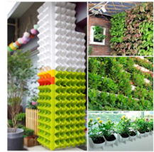 'The Best' Self Watering Flower Pot Stackable Vertical Planter Wall Hang... - $45.99