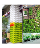 'The Best' Self Watering Flower Pot Stackable Vertical Planter Wall Hang... - £33.76 GBP