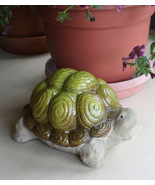 Ceramic Tortoise Turtle Figurine Garden Decoration Sculpture - $7.95