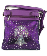 Bright Rhinestone Studded Crystal Squares Cross... - $39.99