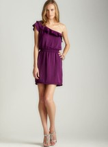 Max Studio Ruffle One Shoulder Dress Rasberry  MEDIUM $128 - $96.92