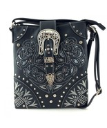 Western Buckle Laser Cut Messenger Bag Cross Bo... - $35.99