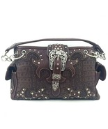 Crocodile Western Buckle Purse Rhinestone Studd... - $48.99
