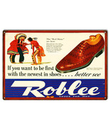 Nostalgic Roblee Shoes For Men Sign 12X18 - $25.74